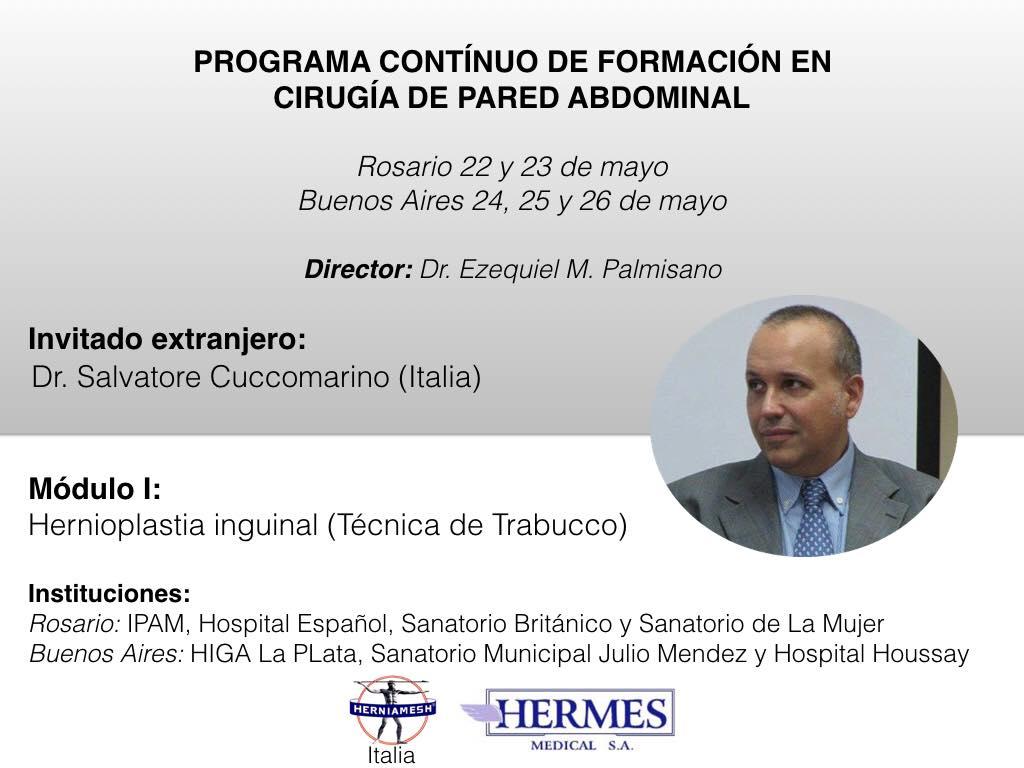 Ernia inguinale e tecnica di Trabucco: in Argentina!